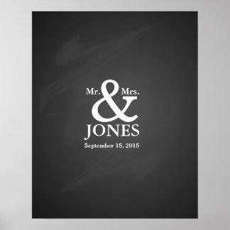Livre de signature d'invité alternatif de mariage posters