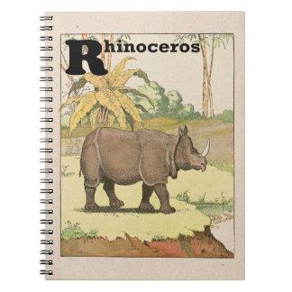 Livre d'histoire de rhinocéros illustré
