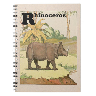 Livre d'histoire de rhinocéros illustré carnets à spirale