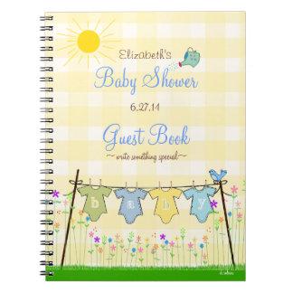 Livre d'invité adorable de baby shower de guingan carnets à spirale