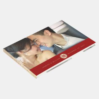 Livre d'invité chinois de mariage de double