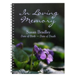 Livre d'invité commémoratif de photo florale carnet