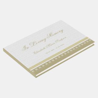 Livre d'invité commémoratif ou funèbre élégant