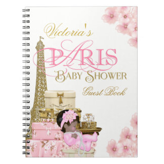 Livre d'invité de baby shower de Paris