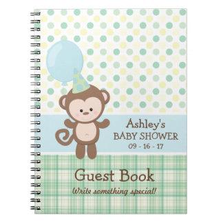 Livre d'invité de baby shower - singe