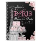 Livre d'invité de fête d'anniversaire de Paris