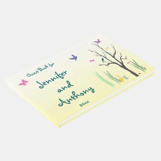 Livre d'invité de mariage de printemps