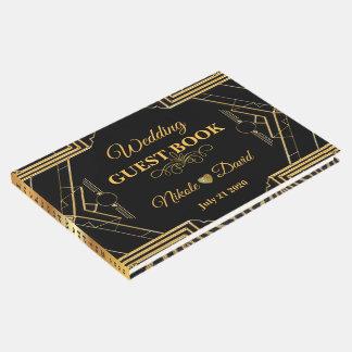 Livre d'invité élégant de mariage de Gatsby d'art