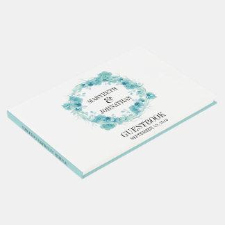 Livre d'invité floral de mariage de guirlande