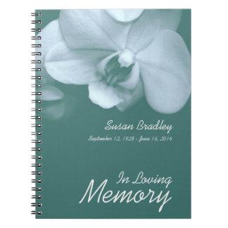 Livre d'invité funèbre de photo florale de carnets