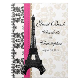 Livre d'invité parisien de mariage de Tour Eiffel