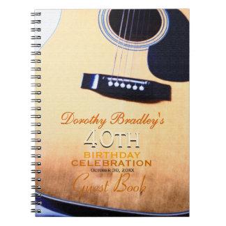 Livre d'invité personnalisé par anniversaire carnets