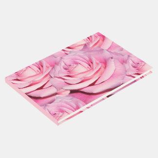 Livre d'invité rose de roses