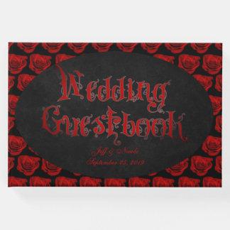 Livre d'invité victorien de mariage de Goth de