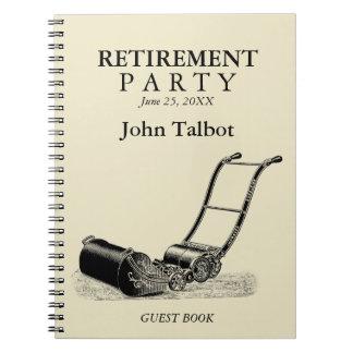 Livre d'invité vintage de partie de retraite de