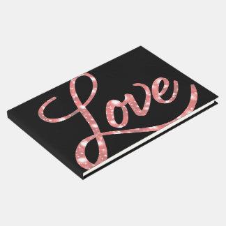 Livre D'or Amour épousant l'étincelle noire et rose de | de