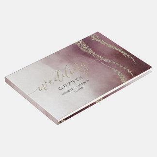 Livre D'or Aquarelle élégante dans le monogramme de mariage