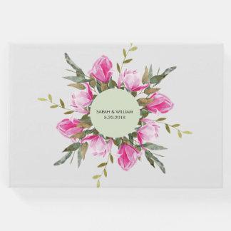 Livre D'or Aquarelle florale de magnolia