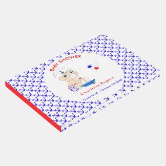 Livre D'or Baby shower nautique de marin de bébé personnalisé