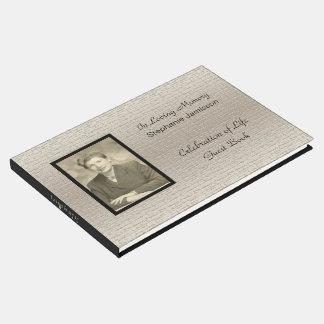 Livre D'or Célébration de la vie, argent élégant avec la