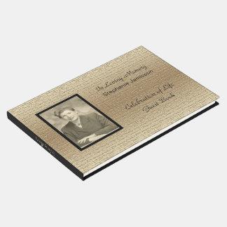 Livre D'or Célébration de la vie, or élégant avec la photo