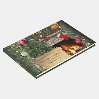 Livre D'or Cheminée de Noël (personnalisable)
