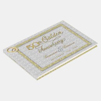 Livre D'or cinquantième Anniversaire de mariage d'or avec la