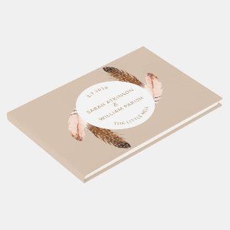 Livre D'or Guestbook de mariage d'aquarelle de plume