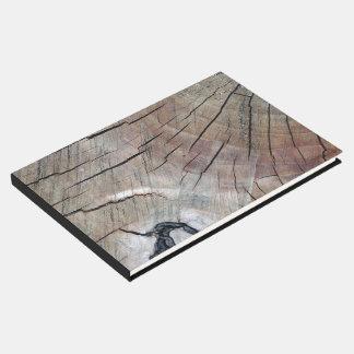 Livre D'or Guestbook en bois rustique de conception de grain