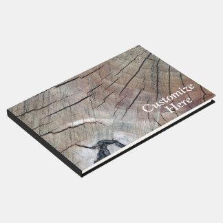 Livre D'or Guestbook en bois rustique personnalisé de