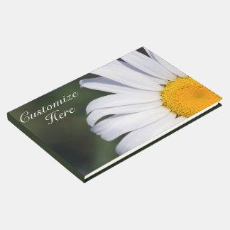 Livre D'or Guestbook excentré personnalisé de marguerite