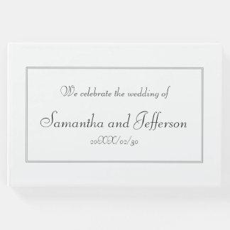 Livre D'or Guestbook modéré et respectable de mariage