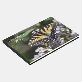 Livre D'or Guestbook personnalisé de papillon de machaon de