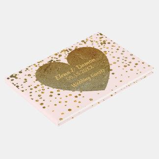 Livre D'or Le mariage élégant | rougissent les confettis