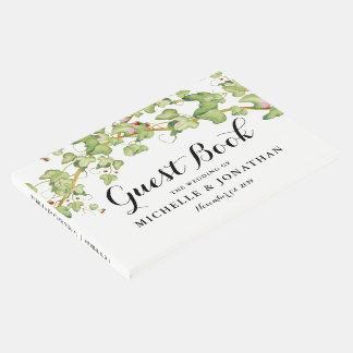 Livre D'or Lierre botanique moderne de la papeterie | de