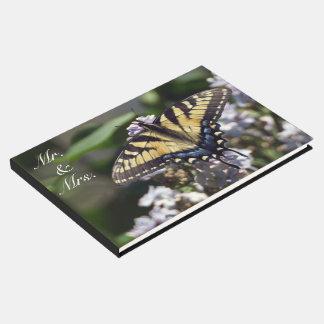 Livre D'or M. et Mme Guestbook de papillon de machaon de