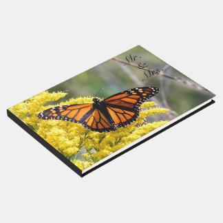 Livre D'or M. et Mme Wedding Guestbook de papillon de