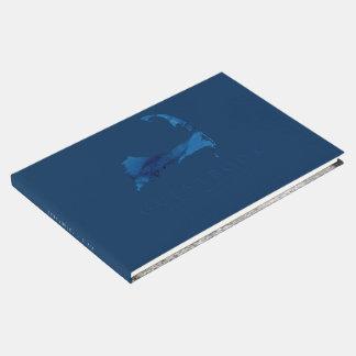 Livre D'or Mariage de carte de Cape Cod d'aquarelle de bleu