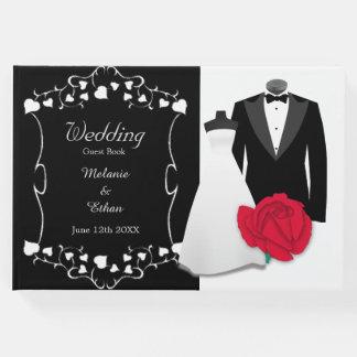 Livre D'or Mariage élégant de robe et de smoking de mariage