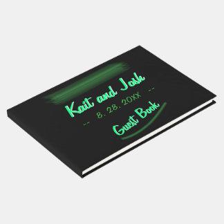 Livre D'or Mariage élégant minimaliste de menthe de vert vert