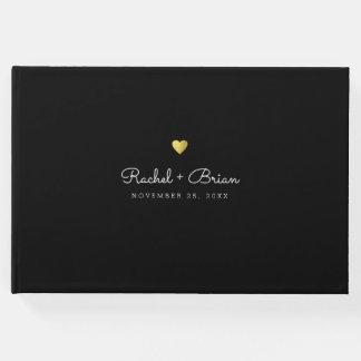Livre D'or mariage noir chic élégant minimaliste