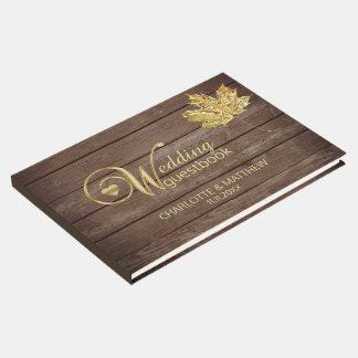Livre D'or Mariage rustique d'automne d'automne de feuille