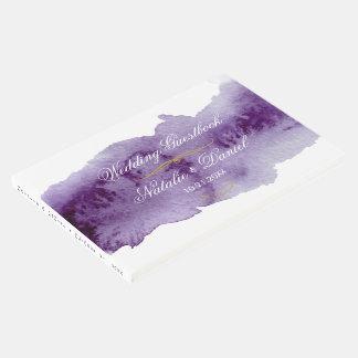 Livre D'or Mariage ultra-violet d'aquarelle