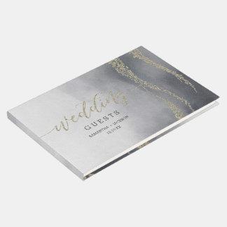 Livre D'or Monogramme élégant inondé de mariage de fumée