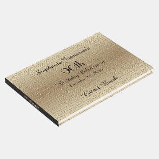 Livre D'or Noir et mémoire de fête d'anniversaire d'or/livre