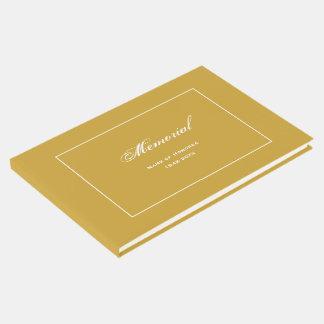 Livre D'or Or simple et élégant de cérémonie commémorative