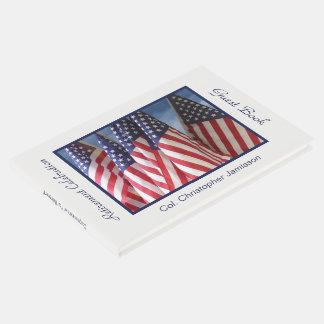 Livre D'or Partie de retraite Signe-Dans le livre, drapeaux