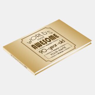 Livre D'or Quatre-vingt-dixième monde de célébration