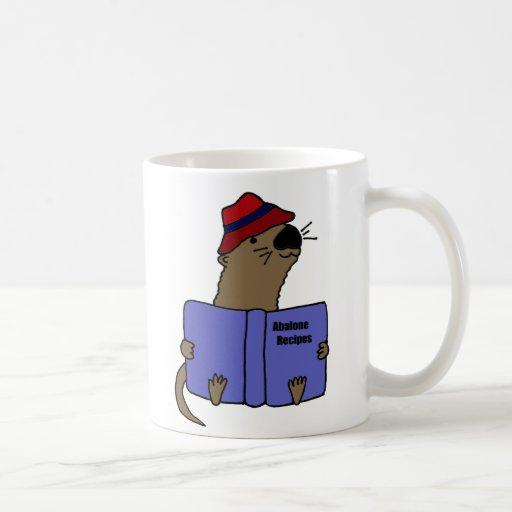 Livre drôle de recette d'ormeau de lecture de lout tasse à café