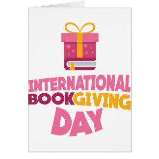 Livre international donnant le jour - 14 février carte de vœux